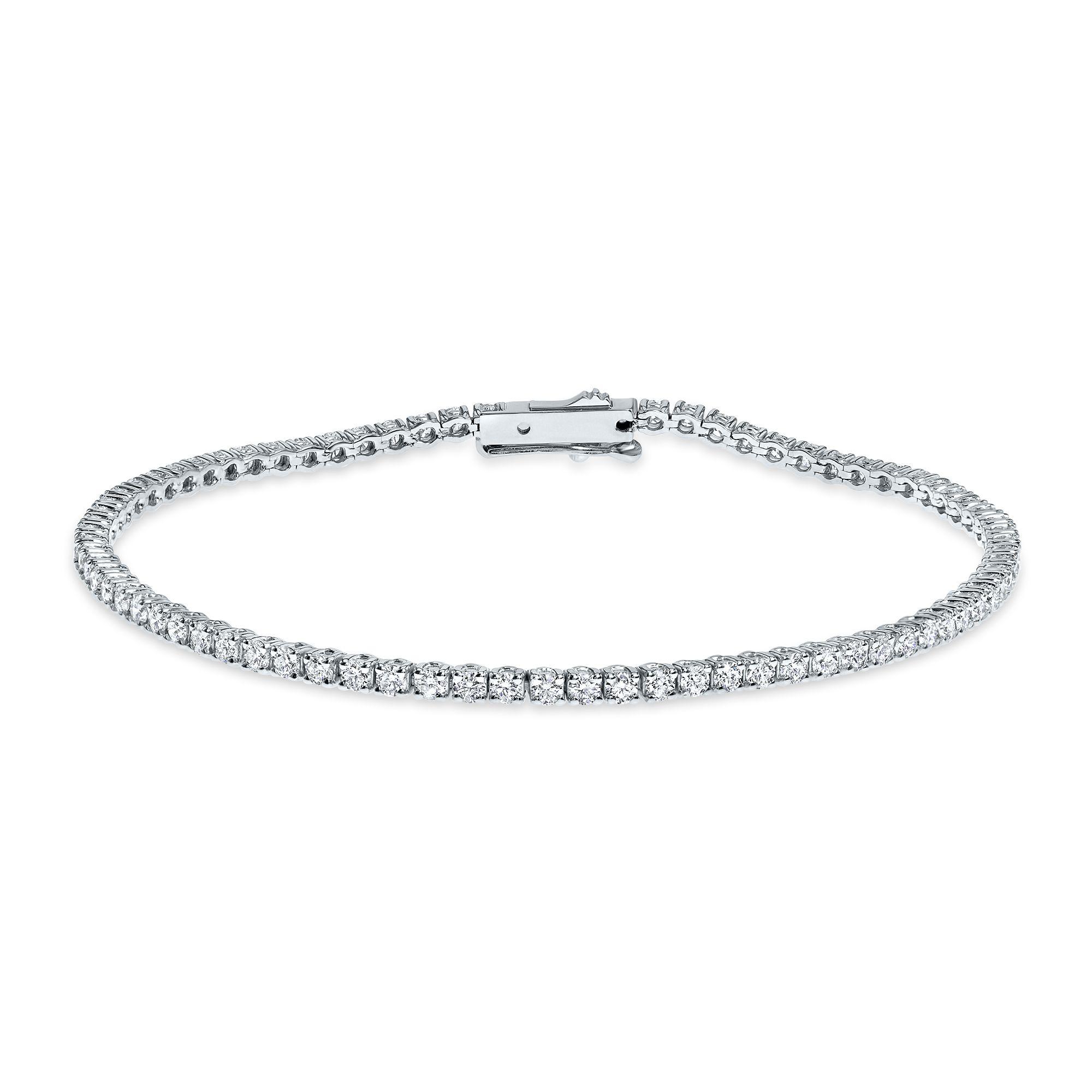 2.50 carat, Tennis Bracelet, G-H color, 6.20gr. 14K