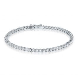 4.20 carat, Tennis Bracelet, G-H Color, 8.20gr 14K