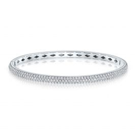 2.00 Carat, Diamond Bangle, I1 Clarity, 14K Gold