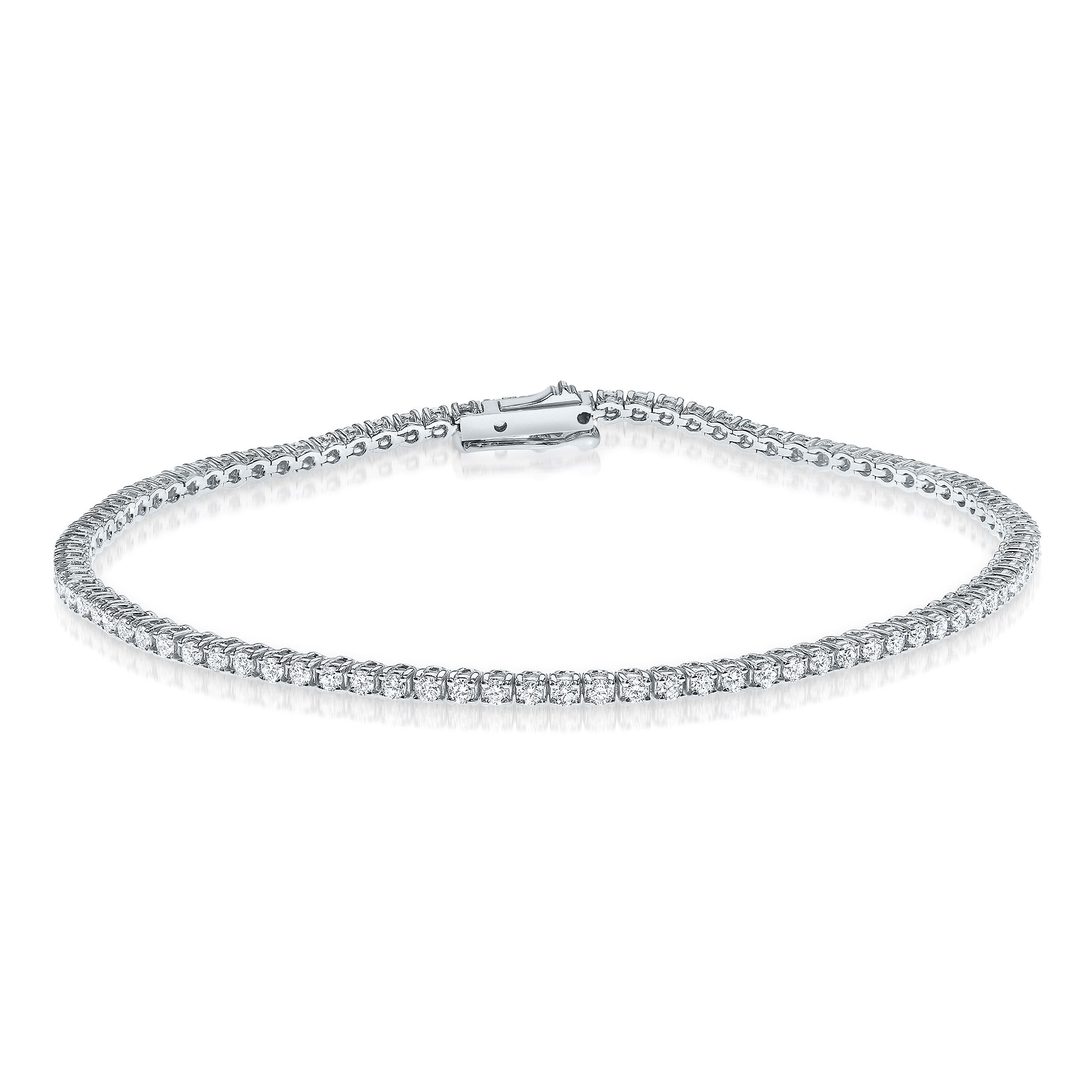 1.50 carat, Tennis Bracelet, G-H Color, I1 Clarity, 14 Gold