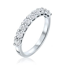 1.00 Carat, Half-Eternity ring,3gr. 14K Gold