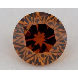 0.29 Carat, Natural Fancy Deep Brownish Yellowish Orange, Round Shape, SI1 Clarity, GIA