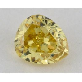 0.45 Carat, Natural Fancy Intense Yellow, Pear Shape, VS2 Clarity, GIA