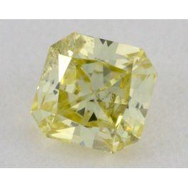 0.29 Carat, Natural Fancy Yellow, Radiant Shape, I1 Clarity, IGI