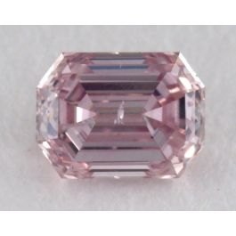 0.16 Carat, Natural Argyle Fancy Intense Purplish Pink, Emerald Shape, I1 Clarity, GIA
