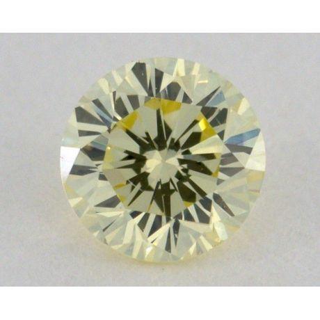 0.29 Carat, Natural Fancy Light Yellow, Round Shape, VS2 Clarity, IGI
