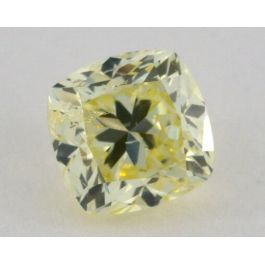 1.00 Carat, Natural Fancy Light Yellow, Cushion Shape, I1 Clarity, IGI