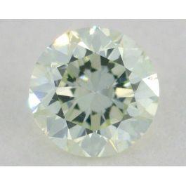 0.15 Carat, Natural Fancy Faint Green, Round Shape, SI1 Clarity, IGI