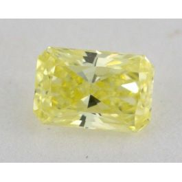0.30 Carat, Natural Fancy Yellow, Radiant Shape, VS2 Clarity, GIA