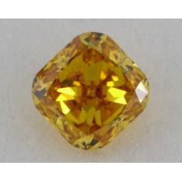 0.22 Carat, Natural Fancy Vivid Orange, Cushion Shape, SI2 Clarity, IGI