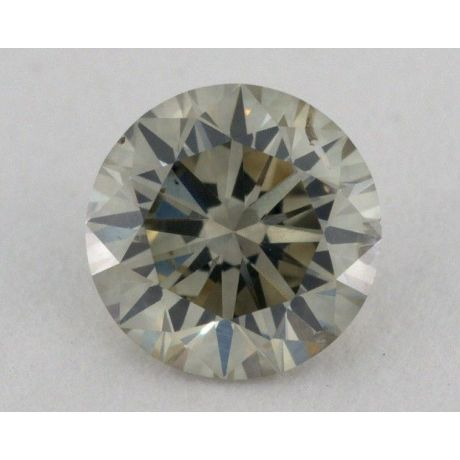 0.66 Carat, Natural Fancy Yellowish Grey, Round Shape, SI2 Clarity, IGI