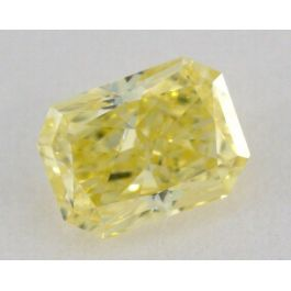 0.24 Carat, Natural Fancy Intense Yellow, Radiant Shape, VS2 Clarity, GIA