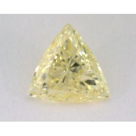 0.38 Carat, Natural Fancy Yellow, Teiangle Shape, SI2 Clarity, GIA
