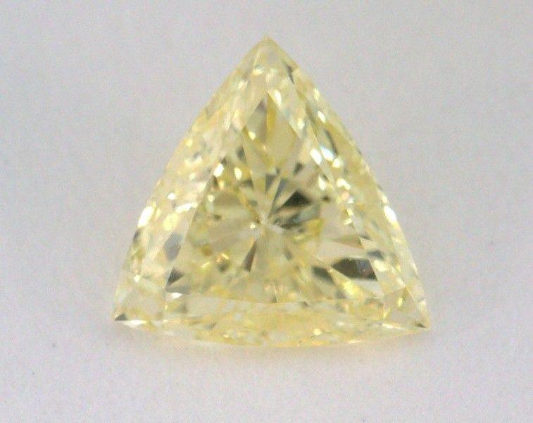 0.38 Carat, Natural Fancy Yellow, Teiangle Shape, SI2 Clarity, GIA