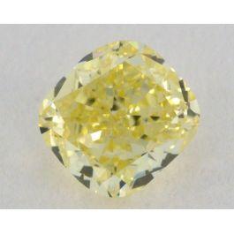 0.33 Carat, Natural Fancy Yellow, Cushion Shape, VS2 Clarity, GIA
