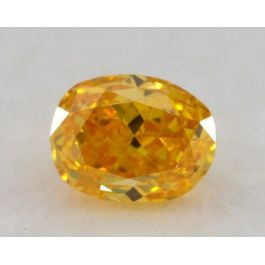 0.29 Carat, Natural Fancy Vivid Orangy Yellow, Oval Shape, SI1 Clarity, GIA