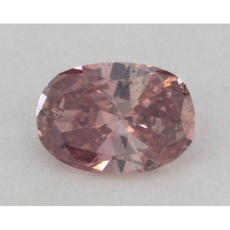 0.21 Carat, Natural Fancy Deep Pink, Oval Shape, SI2 Clarity, GIA