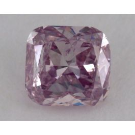 0.30 Carat, Natural Fancy Purple Pink, Cushion Shape, I1 Clarity, GIA