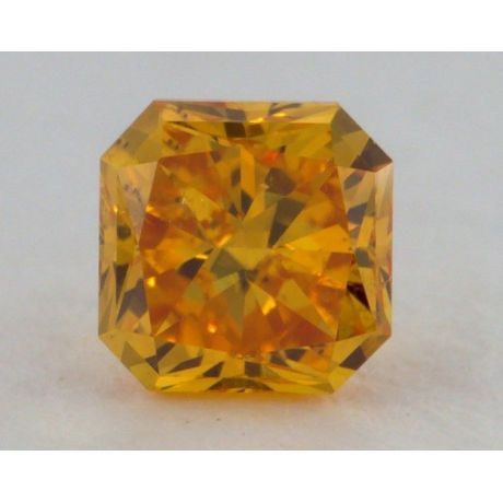 0.27 Carat, Natural Fancy Vivid Yellow-Orange, Radiant Shape, SI1 Clarity, GIA