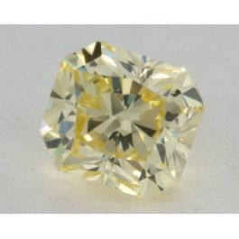 0.32 Carat, Natural Fancy Yellow, Radiant Shape, VS2 Clarity, IGI