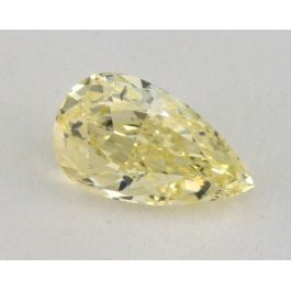 0.51 Carat, Natural Fancy Yellow, Pear Shape, SI2 Clarity, IGI