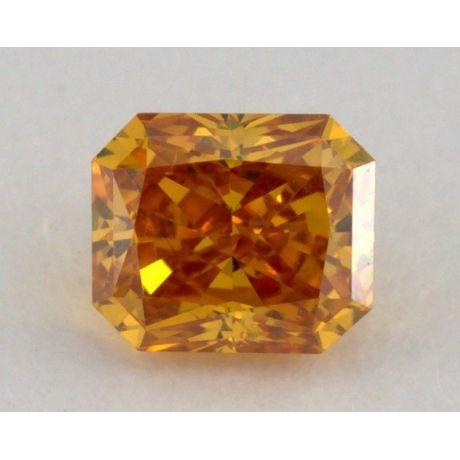 0.20 Carat, Natural Fancy Vivid Orange, Radiant Shape, VS2 Clarity, IGI