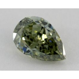 2.30 Carat, Natural Fancy Dark Gray-Yellowish Green Chameleon, Pear Shape, VS2, GIA