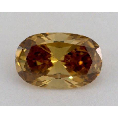 1.50 Carat, Natural Fancy Deep Brown Yellow, Cushion Shape, VS1 Clarity, GIA