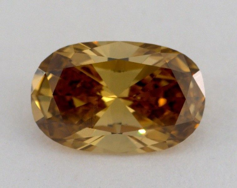 1.50 Carat, Natural Fancy Deep Brown Yellow, Cushion Shape, VS1 Clarity, GIA