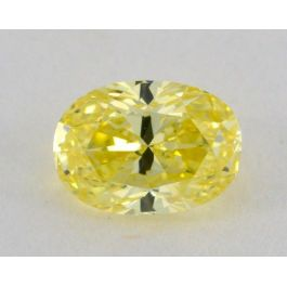 0.67 Carat, Natural Fancy Intense Yellow, Oval Shape, VS2 Clarity, GIA