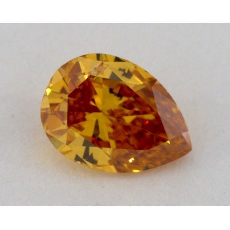 0.47 Carat, Natural Fancy Deep Brownish Yellowish Orange, Pear Shape, SI2 Clarity, GIA
