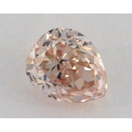 0.63 Carat, Natural Fancy Brown Pink, Pear Shape, SI1 Clarity, GIA
