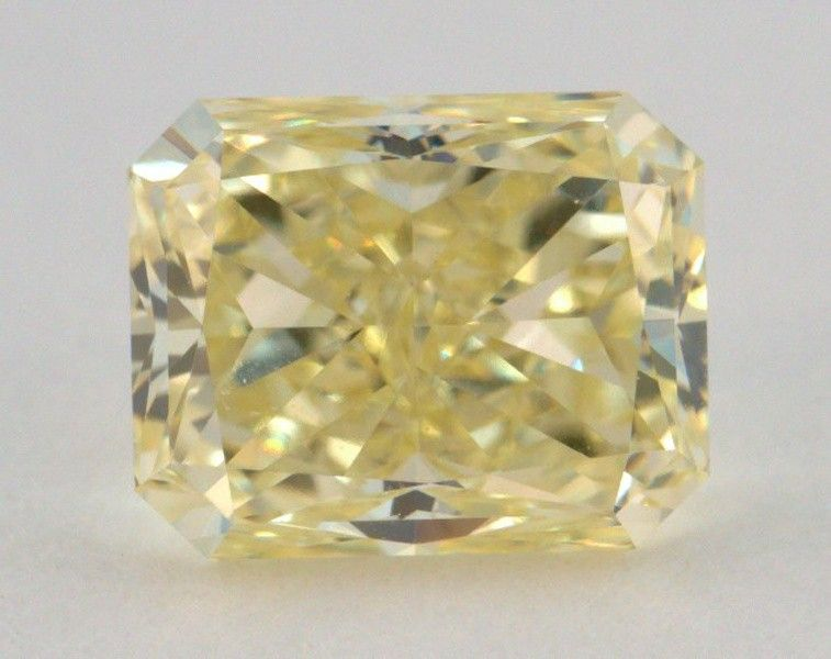 1.01 Carat, Natural Fancy Yellow, Radiant Shape, VVS2 Clarity, GIA