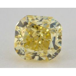 1.02 Carat, Natural Fancy Intense Yellow, Radiant Shape, SI2 Clarity, GIA