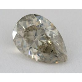 4.22 Carat, Natural Fancy Gray- Greenish Yellow, Pear Shape, I1 Clarity, GIA