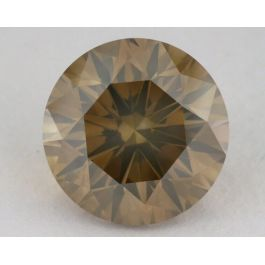5.04 Carat, Natural Fancy Brown-Yellow, Round Shape, SI2 Clarity, GIA