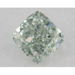 0.53 carat, Natural Fancy Green, Cushion Shape, SI2 Clarity, GIA