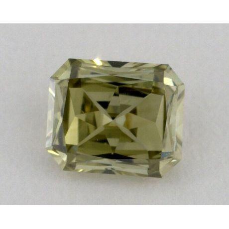 0.48 carat, Natural Fancy Grayish Greenish Yellow, Radiant Shape, VS2 Clarity, GIA