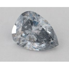 3.94 carat, Natural Fancy Light Gray-Blue, Pear Shape, I1 Clarity, GIA