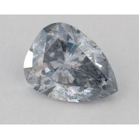 3.94 carat, Natural Fancy Light Gray-Blue, Pear Shape, I1 Clarity, GIA