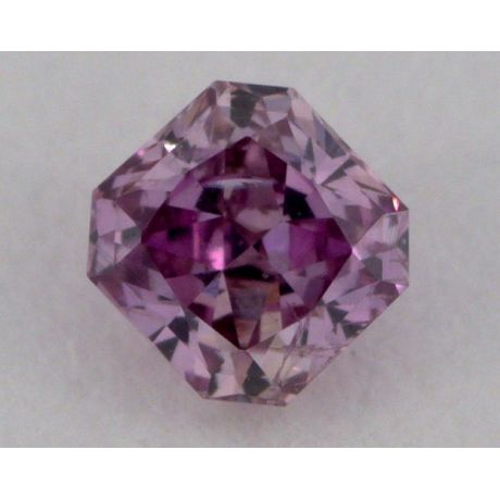 0.09 Carat, Natural Fancy Intense Pink Purple , Radiant Shape, I1 Clarity, GIA
