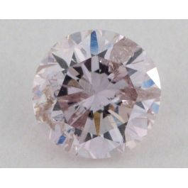 0.38 Carat, Natural Light Pink , Round Shape, GIA