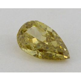 0.59 Carat, Natural Fancy Brownish Yellow, Pear Shape, I1 Clarity, GIA