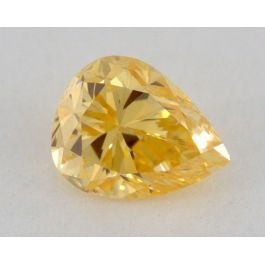 0.29 Carat, Natural Fancy Intense Yellowish Orange, Pear Shape, VS2 Clarity, IGI