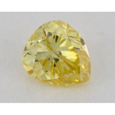 0.30 Carat, Natural Fancy Intense Orangey Yellow, Pear Shape, SI2 Clarity, IGI