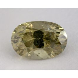 6.00 Carat, Natural Fancy Deep Green-Yellow Chameleon, Oval Shape, I1 Clarity, GIA