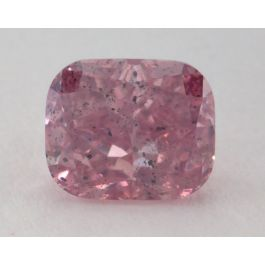 1.01 Carat, Natural Fancy Intense Purplish Pink, Cushion Shape, I1 Clarity, GIA
