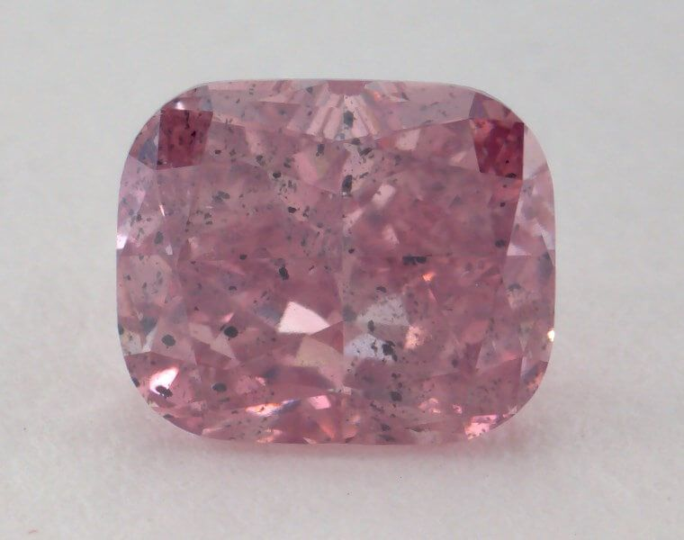 1.01 Carat, Natural Fancy Intense Purplish Pink, Cushion Shape, I1 Clarity, GIA