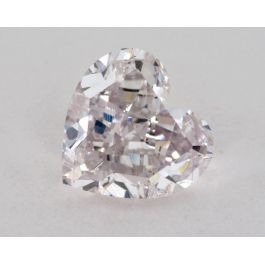 0.75 carat, Natural Fancy Light Purplish Pink, Heart Shape, SI2 Clarity, GIA