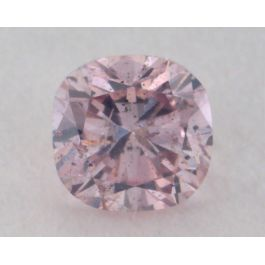 0.13 Carat, Natural Fancy Purple-Pink Diamond, SI2 Clarity, Cushion Shape, GIA